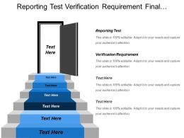 Reporting Test Verification Requirement Final Assessment Test Data