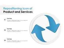 Repositioning Icon Of Product And Services