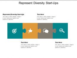 Represent Diversity Start Ups Ppt Powerpoint Presentation Icon Professional Cpb