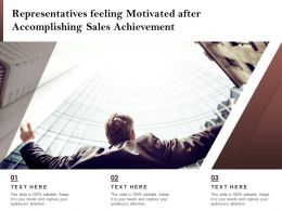 Representatives Feeling Motivated After Accomplishing Sales Achievement