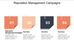 Reputation Management Campaigns Ppt Powerpoint Presentation Gallery Design Ideas Cpb
