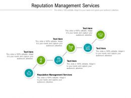 Reputation Management Services Ppt Powerpoint Presentation Pictures Demonstration Cpb