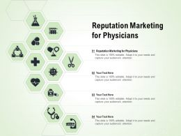 Reputation Marketing For Physicians Ppt Powerpoint Presentation Outline Layout