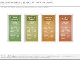 Reputation Marketing Strategy Ppt Slide Templates