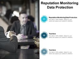 Reputation Monitoring Data Protection Ppt Powerpoint Presentation Gallery Inspiration Cpb