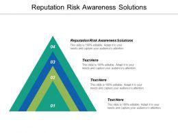 Reputation Risk Awareness Solutions Ppt Powerpoint Presentation Ideas Slideshow Cpb