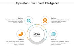 Reputation Risk Threat Intelligence Ppt Powerpoint Presentation Model Graphic Images Cpb