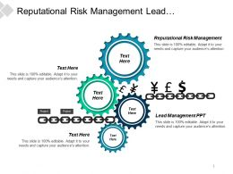 Reputational Risk Management Lead Management Ppt Business Sales Cpb