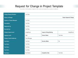 Request For Change In Project Template
