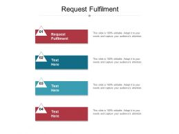 Request Fulfilment Ppt Powerpoint Presentation Outline Design Ideas Cpb