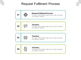 Request Fulfilment Process Ppt Powerpoint Presentation Ideas Vector Cpb