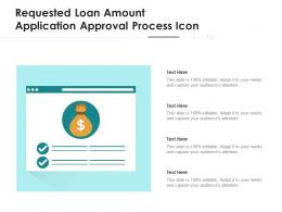 Requested Loan Amount Application Approval Process Icon