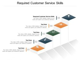 Required Customer Service Skills Ppt Powerpoint Presentation Infographic Template Cpb