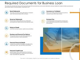 Required Documents For Business Loan Overall Ppt Powerpoint Presentation Gallery Graphics Design