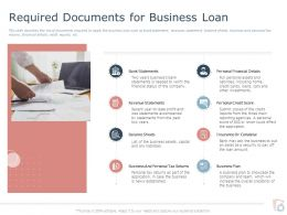 Required Documents For Business Loan Ppt Powerpoint Presentation Professional