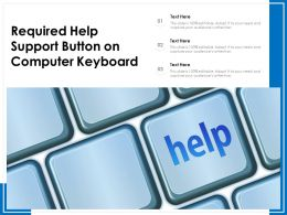 Required Help Support Button On Computer Keyboard