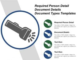Required Person Detail Document Details Document Types Templates
