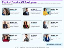Required Team For Api Development Responsibilities Ppt Inspiration