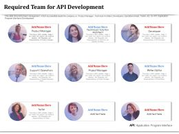 Required Team For API Development Technical Architect Ppt Design Templates