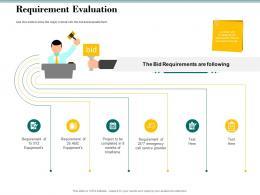 Requirement Evaluation Bid Evaluation Management Ppt Powerpoint Visuals