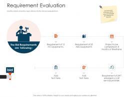Requirement Evaluation Tender Management Ppt Formats