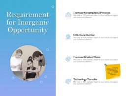 Requirement For Inorganic Opportunity Ppt Powerpoint Presentation Vector