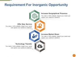 Requirement For Inorganic Opportunity Ppt Visuals