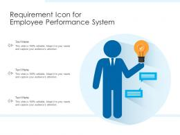 Requirement Icon For Employee Performance System