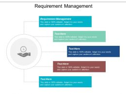 Requirement Management Ppt Powerpoint Presentation Gallery Icons Cpb