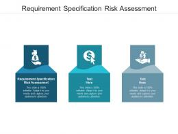 Requirement Specification Risk Assessment Ppt Powerpoint Presentation Ideas Portrait Cpb
