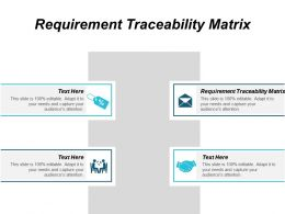 Requirement Traceability Matrix Ppt Powerpoint Presentation Layouts Format Ideas Cpb
