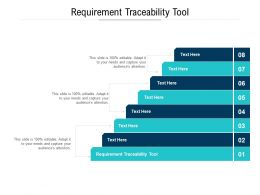 Requirement Traceability Tool Ppt Powerpoint Outline Smartart Cpb