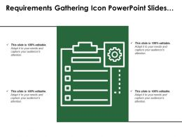 Requirements Gathering Icon Powerpoint Slides Template