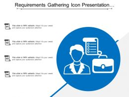 Requirements Gathering Icon Presentation Backgrounds