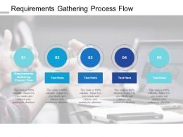 Requirements Gathering Process Flow Ppt Powerpoint Presentation Slides Cpb