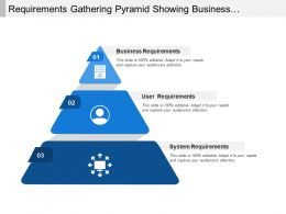 Requirements Gathering Pyramid Showing Business And System Requirement