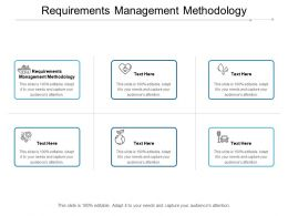Requirements Management Methodology Ppt Powerpoint Presentation Visual Aids Professional Cpb
