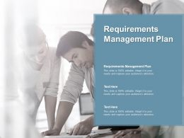 Requirements Management Plan Ppt Powerpoint Presentation Layouts Outline Cpb