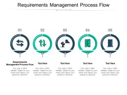 Requirements Management Process Flow Ppt Powerpoint Presentation Infographic Template Grid Cpb