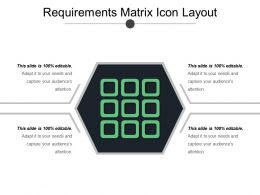 Requirements Matrix Icon Layout