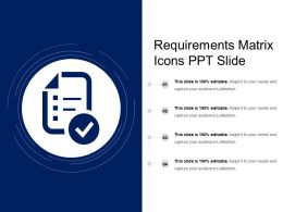 Requirements Matrix Icons Ppt Slide