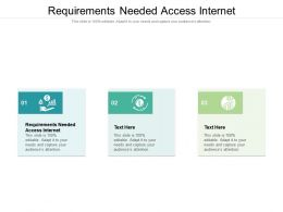 Requirements Needed Access Internet Ppt Powerpoint Presentation Show Format Ideas Cpb