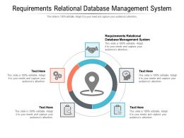 Requirements Relational Database Management System Ppt Powerpoint Presentation Slides Cpb