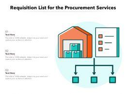 Requisition List For The Procurement Services