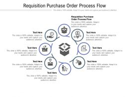 Requisition Purchase Order Process Flow Ppt Powerpoint Presentation Portfolio Ideas Cpb