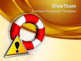 Rescue Icon Attention Business Powerpoint Templates Ppt Themes And Graphics 0113