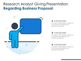 Research Analyst Giving Presentation Regarding Business Proposal