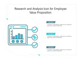 Research And Analysis Icon For Employee