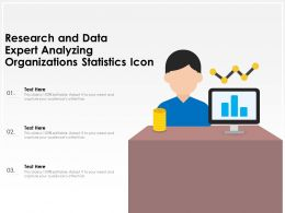 Research And Data Expert Analyzing Organizations Statistics Icon