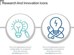 Research And Innovation Icons